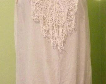Up-cycled Re-purposed Mori Girl Slip Dress Tunic Ready to Ship World Wide Free Shipping in USA