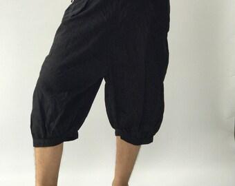 HC0196 capri pants Men's Pants, Thai Pants decorate by hilltribe fabric