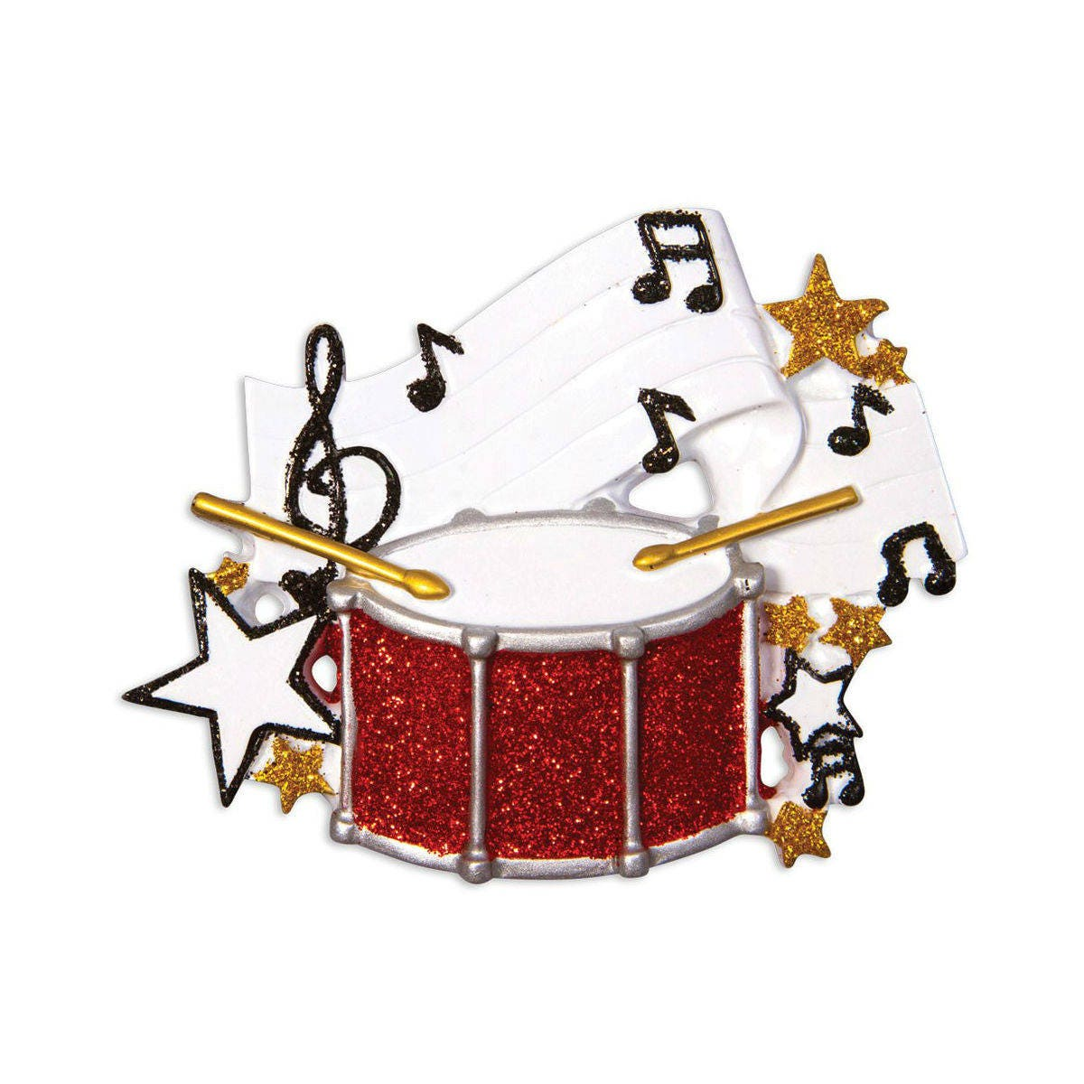 Drums Personalized Christmas Ornament Snare Drum