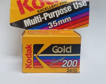 Expired 35mm Color Film  |  Single Roll | Kodak Gold Super 200 Roll 24 Exposure Film |  Great For Lomography  | Expired 12/1994  200 ISO