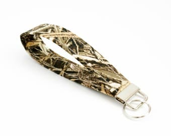 Key Fob - Marsh Camo - 5 or 6 Inch Loop - Strap - Key Wristlet - Key Ring - Men's Key Chain - Fabric Keychain - Key Strap - Hunter Gift