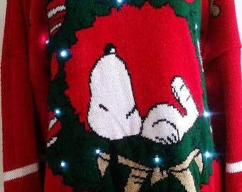 Snoopy light up Christmas sweater