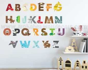Alphabet Wall Decal, Playroom Wall Decal, Nursery Wall Decal, Alphabet Decal, Alphabet Nursery Art, Nursery Wall Art, Alphabet Art - 01-0030