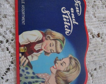 Vintage Needle Sewing Book/Case
