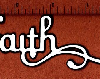 """Tittle """"faith"""" cardstock die cut"""
