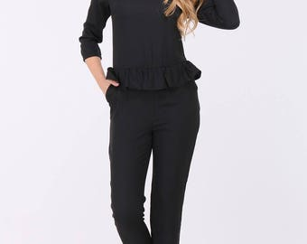 Black Crepe Jumpsuit.