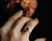 READY TO SHIP Succulent Stacking Ring No. 4- Miniature Plant- Inspired Jewelry in Precious and Semi-Precious Metals