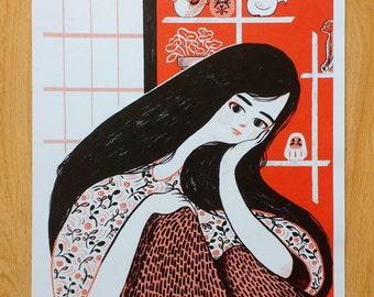 Yokai Lady - A3 Digital print by Marianna Madriz