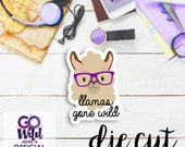 GO Wild Llama Calendar Cardstock Die Cuts   Single Die Cut Cardstock Die Cut for Planners, Journals, Scrapbooking, TNs