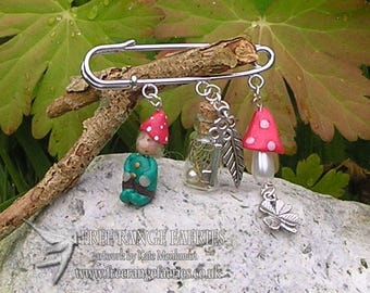 Lucky Gnome Brooch