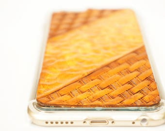 Leather Samsung Galaxy Note 8 Case | Tan Basketweave