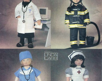 Vogue Craft 7678 American Girl Doll Doctor, Firefighter, Scrubs and Nurse Uniforms Sewing Pattern UNCUT