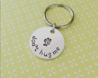 Don't Hug Me Cactus Keychain   Succulent Gift   Cactus Gift   Cacti Lover   Gift for Her   Plant Lady   Plant Lover Gift   Nature Lover