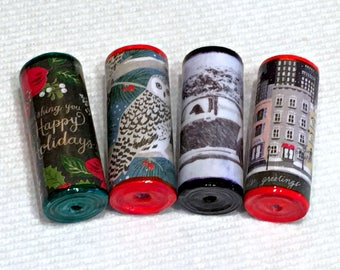 Holiday Wine Stopper Paper Beads