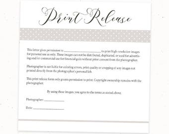 Photography etsy for Free photography print release form template