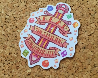 Fear The Smiling Dungeon Master sticker