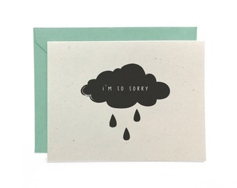 NEW | Illustrated Sympathy Card, I'm So Sorry, Recycled Card, Greeting Card