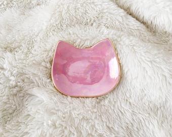 Pink Pearl Cat Ring Dish