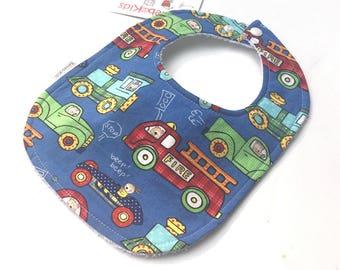 Fire Truck Baby Bib - Baby Boy Bibs - Tractor Baby Shower - Baby Bibs  - Cars and Trucks - Baby Boy - Construction Party - Toddler Bibs - 18