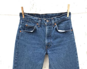 LEVIS 505 Jeans 27 Waist Orange Tab Mom Jeans