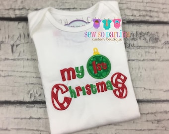 Baby first Christmas Outfit - Baby Christmas Outfit - First Christmas Outfit - First Christmas outfit - baby first christmas shirt