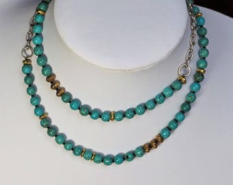 Turquoise Magnesite Necklace