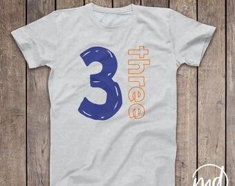 3 year old birthday shirts for boy, Third Birthday Shirt Boy, Three year old boy birthday outfit, Boy third bday outfit Birthday Boy 3 Shirt