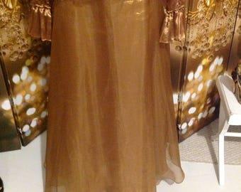 Bronze gold copper skirt