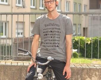 Bicycles - Men - Bio fair trade T-Shirt - dark heather grey