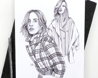 Stylist Issue 302 I Original Ink Drawing / Fashion Illustration / Style Illustration