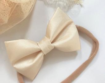 Champagne Signature Bow Headband