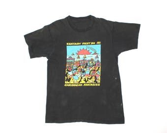 Vintage Fantasy 1990s Key West Fantasy Fest T-shirt