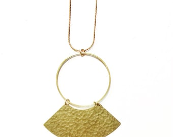 Fortune Teller Necklace with Hammered Brass