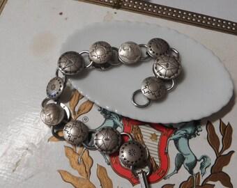 South West Silver Metal Button Bracelet