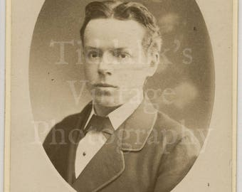 CDV Carte de Visite Photo Victorian Handsome Boy Portrait Dated 1878 by Haes & Vandyk of London England