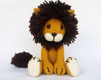 Amigurumi Lion - Crochet Lion / Stuffed Lion - Crocheted Lion / Lion Plush - FELIPE the Lion / Gold. Ready to ship.