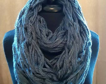 The Arm Crocheted Chunky Infinity Scarf