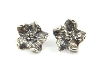 Vintage Flower Earrings, Dogwood, Posts