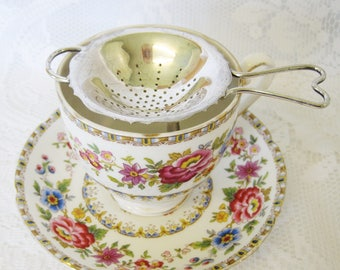 Silver Plated Footed Tea Strainer