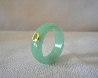 Stunning Green Jade Peridots Ring******.