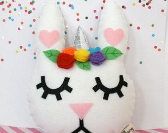 Bunnicorn - Unicorn Felt Plush Toy