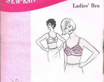 Bust 34 Misses' Lacy Bra Sewing Pattern - Vintage Bra Pattern - Lingerie Sewing Pattern - Sew-Knit-N-Stretch