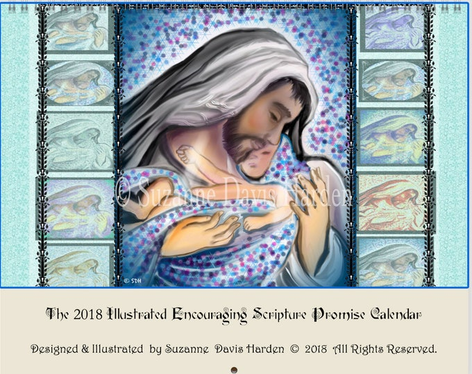 Featured listing image: The 2018 Illustrated Encouraging Scripture Promise Calendar by Suzanne Davis Harden
