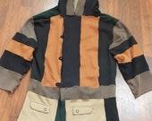 RESERVED custom upcycled hoodie jacket