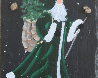 "Our ""IRISH SANTA"" Slate....Merry Christmas!"