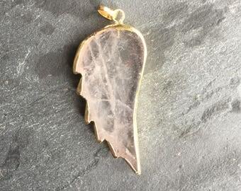 Quartz gold plated angel wing