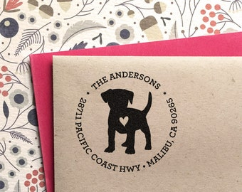 Dog Address Stamp, Custom Address Stamp, Jack Russell Terrier Return Address Stamp, Self Ink Stamp, Wedding Stamp,Doglover Housewarming Gift