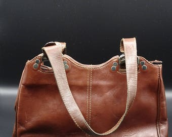 Vintage Piké Leather Shoulder Bag, Genuine Leather Bag, Vintage Shoulder Bag, Piké Bag