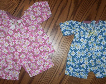 "A.G., 18"" DOLL  2 piece SHORT OUTFIT .. Clearance .. Hand Made. Fits Preemies Too"