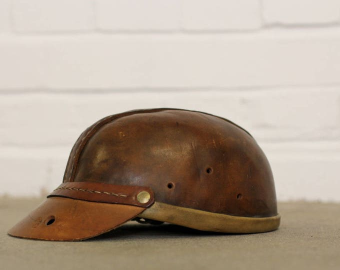 Deadstock German Leather Miners Helmet Circa 1930s